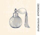 vintage line drawing... | Shutterstock .eps vector #694506082