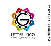 letter g for multimedia logo ... | Shutterstock .eps vector #694513528