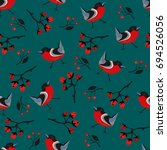 bird seamless pattern.... | Shutterstock .eps vector #694526056