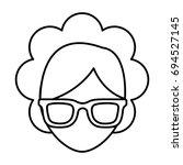 glasses accessory icon | Shutterstock .eps vector #694527145