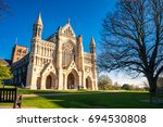 cathedral and abbey church of... | Shutterstock . vector #694530808