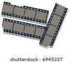 bitten film strips | Shutterstock . vector #6945337