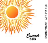 summer card with sun on a white ... | Shutterstock .eps vector #694545418