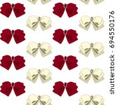 seamless pattern with bow tie... | Shutterstock .eps vector #694550176
