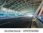 expressway to shanghai pudong... | Shutterstock . vector #694556086