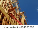 new houses being built in north ... | Shutterstock . vector #694579855