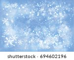vector blue gradient winter... | Shutterstock .eps vector #694602196