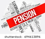 pension word cloud collage ... | Shutterstock . vector #694613896