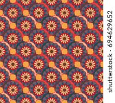 new color seamless pattern with ... | Shutterstock . vector #694629652