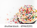Close Up Of Festive Cupcake...