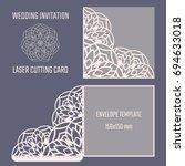 diy laser cutting vector... | Shutterstock .eps vector #694633018