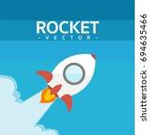 rocket   Shutterstock .eps vector #694635466