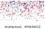american stars confetti. vector ... | Shutterstock .eps vector #694636612
