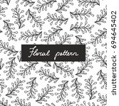seamless pattern with small... | Shutterstock .eps vector #694645402