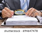 midsection of businessman... | Shutterstock . vector #694647478