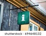 city street information sign ... | Shutterstock . vector #694648132
