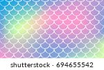 mermaid scale on trendy... | Shutterstock .eps vector #694655542