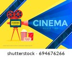 cinema festival banner. movie... | Shutterstock .eps vector #694676266