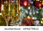 christmas rustic background... | Shutterstock . vector #694679812