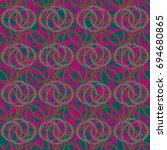 abstract color seamless pattern ... | Shutterstock . vector #694680865