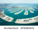 an artificial jumeirah palm... | Shutterstock . vector #694684642