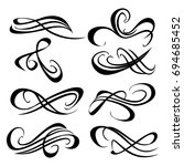 decorative monograms and... | Shutterstock .eps vector #694685452