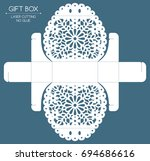 openwork gift box with a lace... | Shutterstock .eps vector #694686616