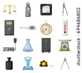 measure precision tools icons... | Shutterstock . vector #694686802