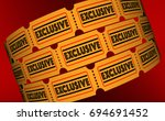 exclusive special offer content ... | Shutterstock . vector #694691452