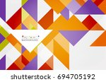 triangle pattern design... | Shutterstock .eps vector #694705192