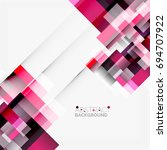 abstract vector blocks template ... | Shutterstock .eps vector #694707922