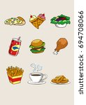 food and beverage cartoon icon... | Shutterstock .eps vector #694708066