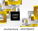 squares geometric shapes in... | Shutterstock . vector #694708492
