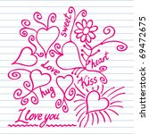 valentine drawing on the... | Shutterstock .eps vector #69472675
