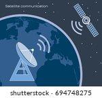 satellite communication | Shutterstock .eps vector #694748275