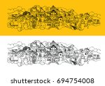 scalable vector artwork showing ... | Shutterstock .eps vector #694754008