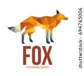 low poly logo icon symbol fox... | Shutterstock .eps vector #694765006