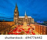 christmas market in front of... | Shutterstock . vector #694776442