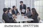 administrator  business meeting ... | Shutterstock . vector #694777186