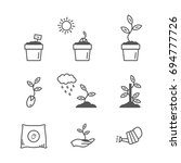 sprout and seeds vector icon... | Shutterstock .eps vector #694777726
