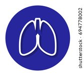 vector lungs within a circle... | Shutterstock .eps vector #694778002