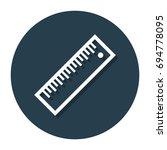 vector ruler in circle line... | Shutterstock .eps vector #694778095