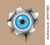 eye in the hole  eps 8  cmyk. | Shutterstock .eps vector #69477883