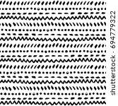 black and white tribal vector... | Shutterstock .eps vector #694779322