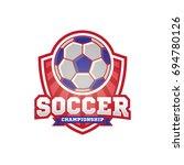 soccer logo sport design... | Shutterstock .eps vector #694780126