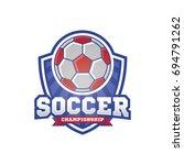 soccer logo sport design... | Shutterstock .eps vector #694791262