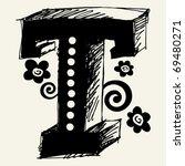 funny vector contre jour abc ... | Shutterstock .eps vector #69480271