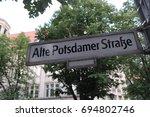 alte potsdamer strasse street... | Shutterstock . vector #694802746