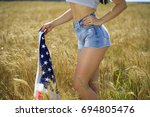 body part  blue jeans and... | Shutterstock . vector #694805476
