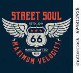 street soul   tee design for... | Shutterstock .eps vector #694812928